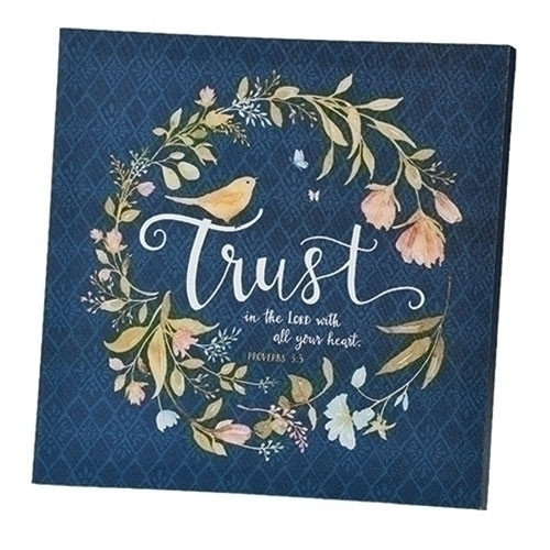 "12"" Trust In The Lord Plaque"