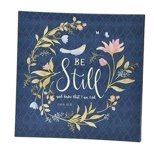 "12"" Be Still Plaque"