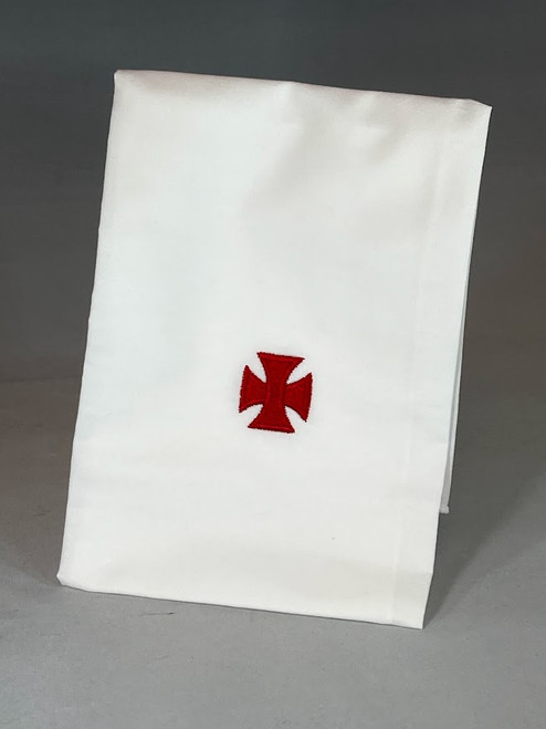 Embroidered Red Cross Purificator | 100% Cotton | Pack of 3