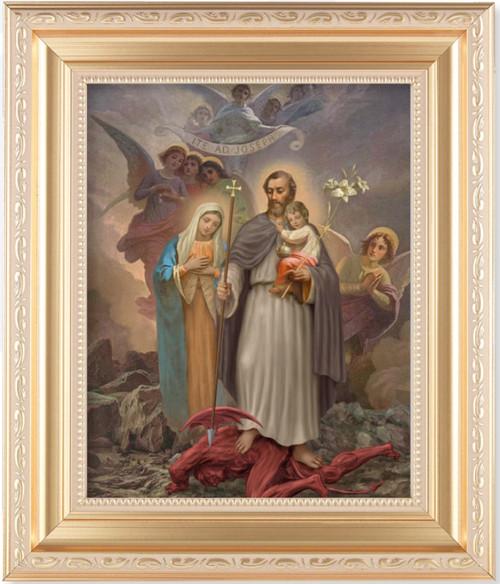 """Saint Joseph """"Terror of Demons"""" Gold Framed Art"""