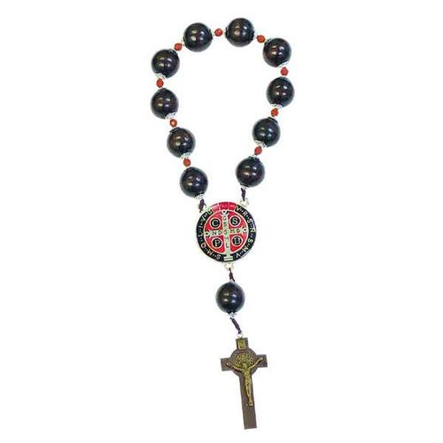 Saint Benedict Door Rosary | 23mm Wood Beads
