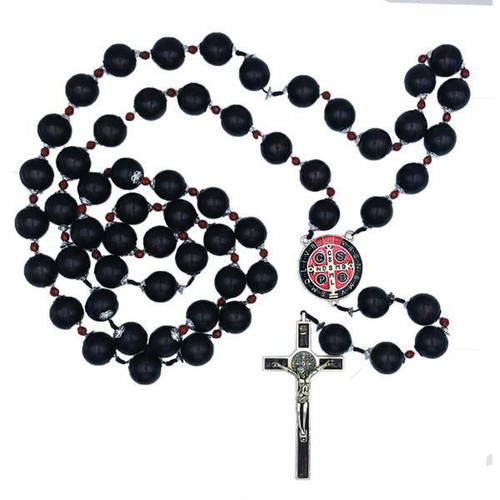 "Saint Benedict 43"" Wall Rosary 