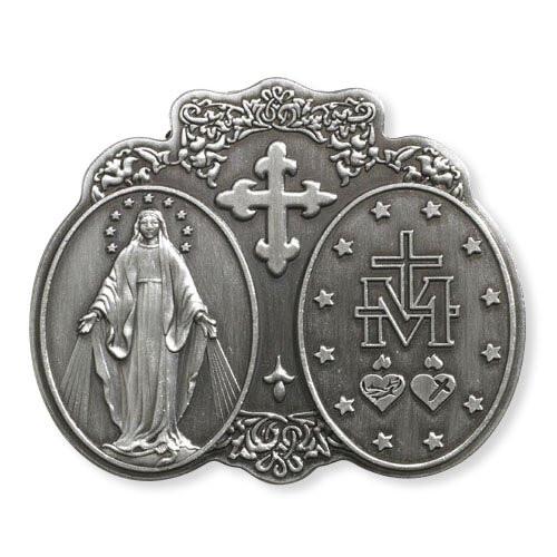 Blessed Virgin Mary Visor Clip