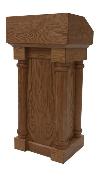 #120 Solid Oak Lectern | Multiple Finishes Available