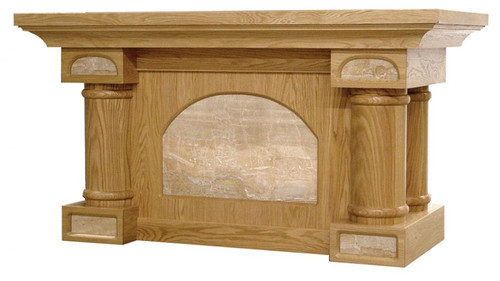 #120 Altar of Sacrifice with Marble Insets | Oak | Multiple Finishes Available