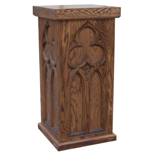 #40 Statue Stand & Pedestal | Oak | Multiple Finishes Available
