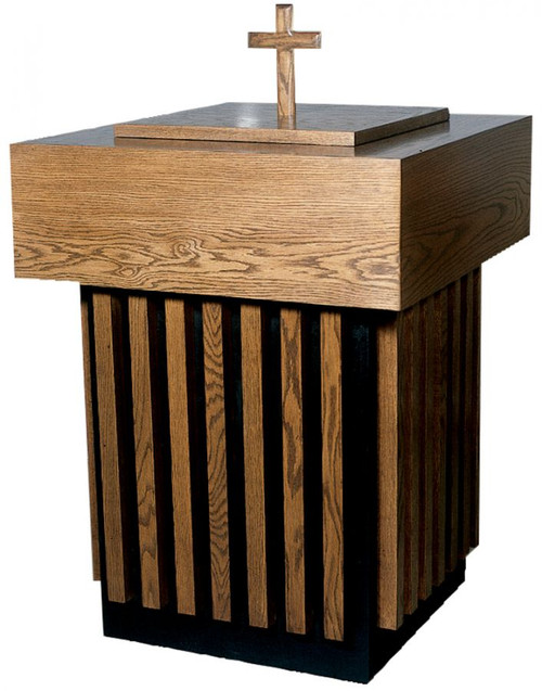 #100 Baptismal Font | Oak | Multiple Finishes Available