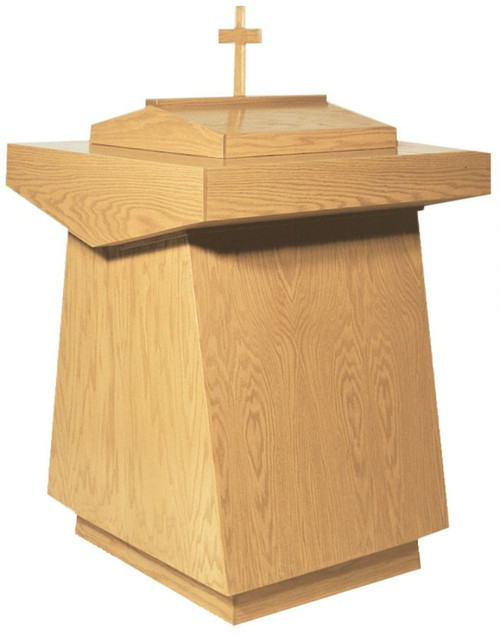 #200 Baptismal Font | Oak | Multiple Finishes Available