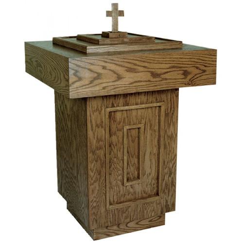 #500 Baptismal Font | Oak | Multiple Finishes Available