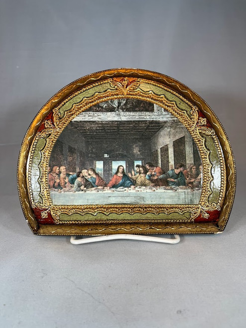 """7"""" Last Supper Florentine Plaque   Made In Italy   One-of-a-Kind"""