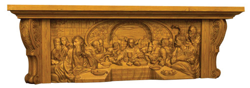#5000 10' Last Supper Carved Altar of Sacrifice | Oak | Multiple Finishes Available
