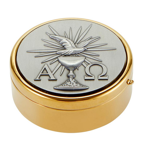Dove Alpha Omega Hospital Pyx | Holds 60 Hosts