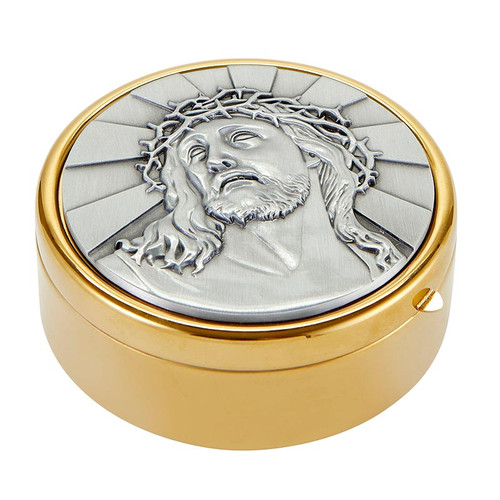 Ecce Homo Hospital Pyx | Holds 60 Hosts