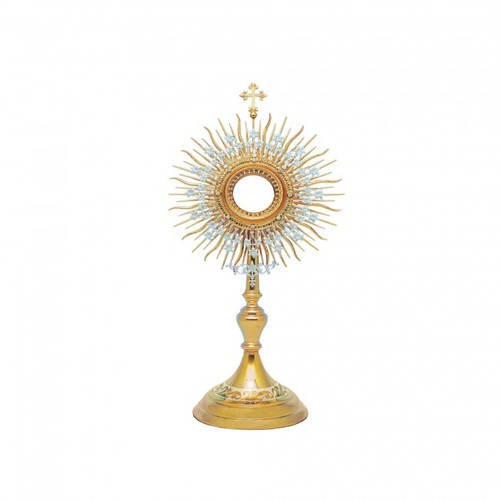 #10-402 Traditional Roman Monstrance | 24K Gold & Silver-Plated