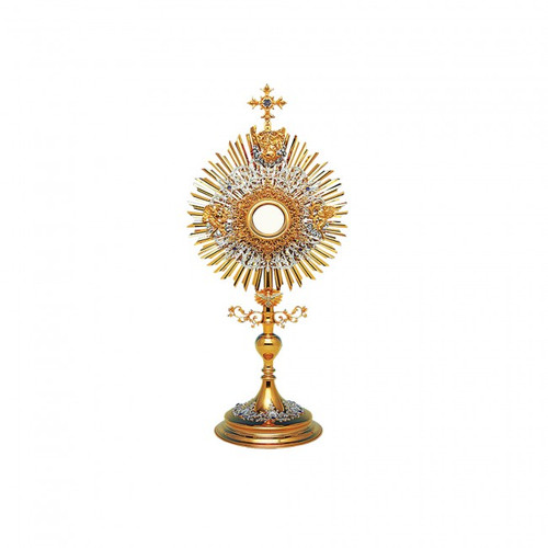 #10-413 Trinity Monstrance | 24K Gold & Silver-Plated