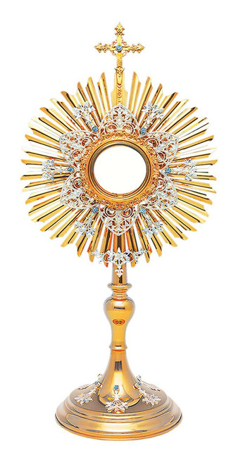 #10-411 The Marian Monstrance | 24K Gold & Silver-Plated