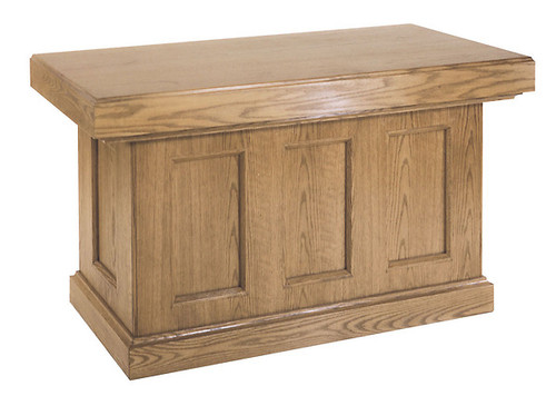 #419 Full Altar with Recessed Panels | Multiple Finishes & Materials Available | Two Sizes Available