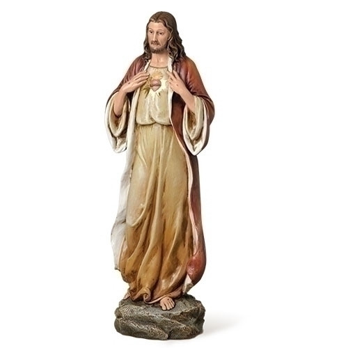 """14"""" Sacred Heart of Jesus Statue 
