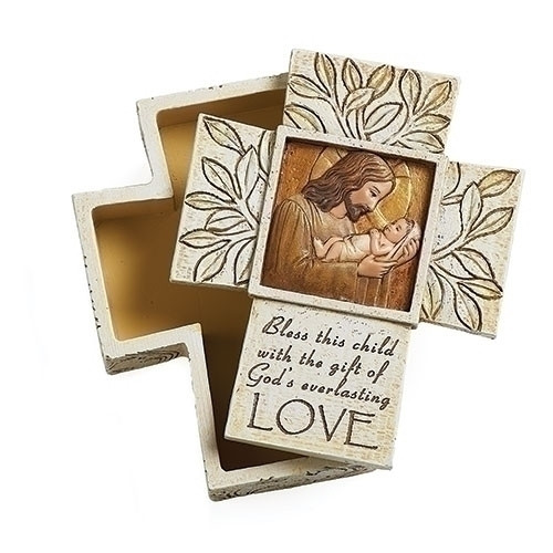 "3.5"" Jesus Loves Me Keepsake Box 