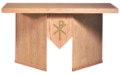 #7000 Portable Chi Rho Altar | Multiple Finishes & Materials Available | Two Sizes Available