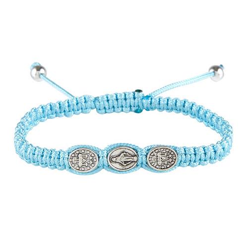 Blue Miraculous Medal Bracelet