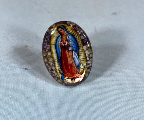 Our Lady of Guadalupe Adjustable Ring | Handmade In Mexico