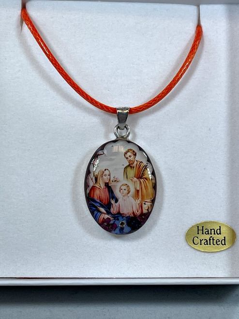 Holy Family Pressed Flower Pendant | Handmade In Mexico