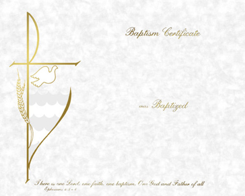 Blank Traditional Baptism Certificates   Box of 50