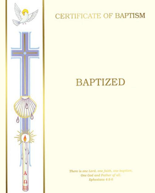 Blank Banner Ephesians 4 Baptism Certificates   Box of 50