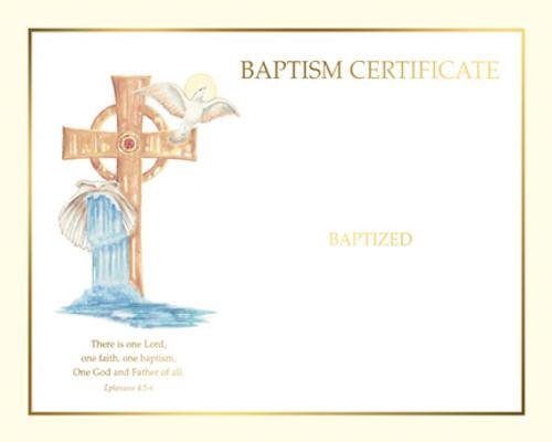 Blank Spiritual Baptism Certificates   Box of 50
