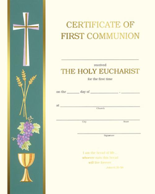 Banner John 6 First Communion Certificates   Box of 50