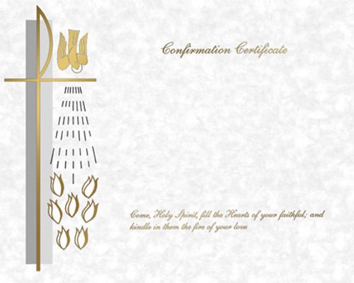 Blank Traditional Confirmation Certificates   Box of 50