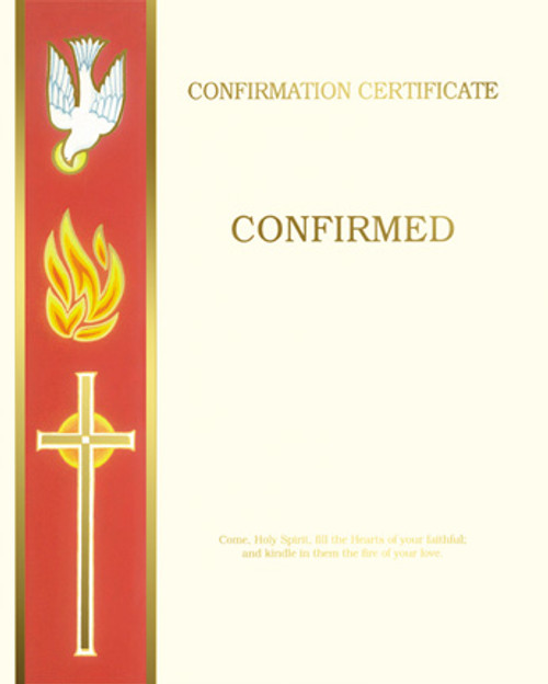 Blank Banner Confirmation Certificates   Box of 50