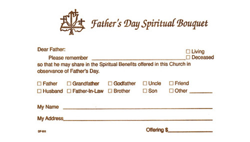 Fathers Day Spiritual Bouquet Offering Envelope | Pack of 100