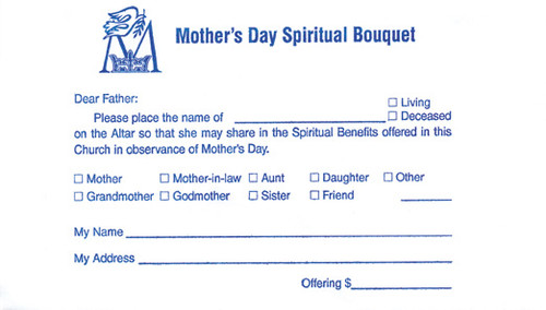 Mother's Day Spiritual Bouquet Offering Envelope | Pack of 100