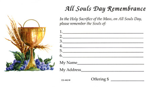 All Souls Day Offering Envelope | Pack of 100