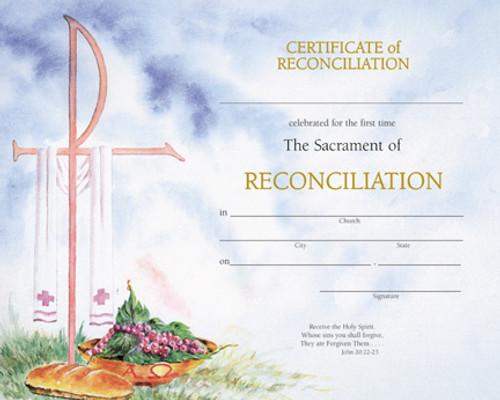 Watercolor Reconciliation Certificates   Box of 50