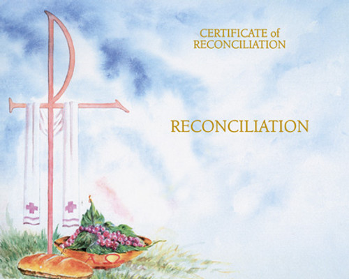Blank Watercolor Reconciliation Certificates   Box of 50