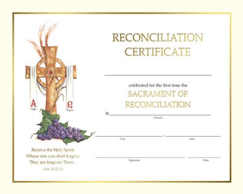 Spiritual Reconciliation Certificates   Box of 50