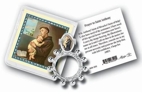 St. Anthony Rosary Ring & Prayer Card