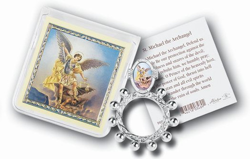 St. Michael Rosary Ring & Prayer Card