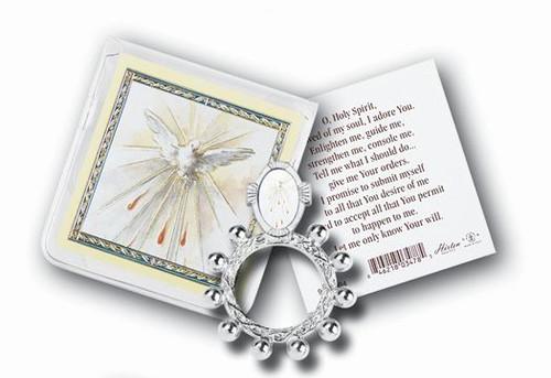 Holy Spirit Rosary Ring & Prayer Card