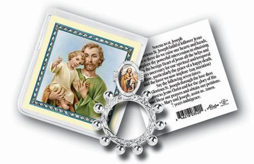 St. Joseph Rosary Ring & Prayer Card
