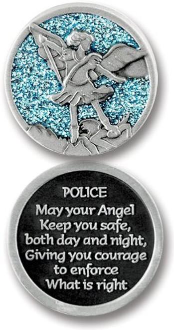 St. Michael Sparkle Pocket Token Coin
