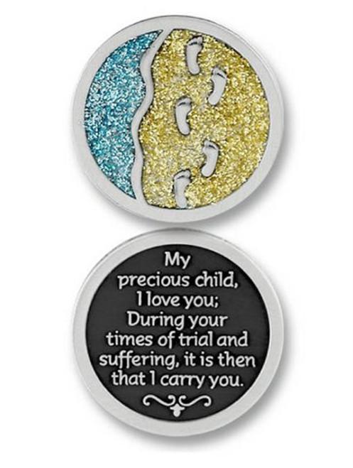 Footprints Sparkle Pocket Token Coin