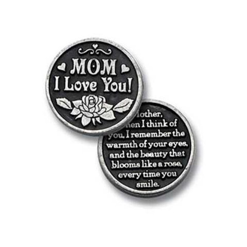 I Love You Mom Pocket Token Coin