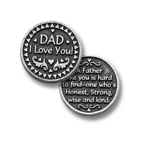 I Love You Dad Pocket Token Coin