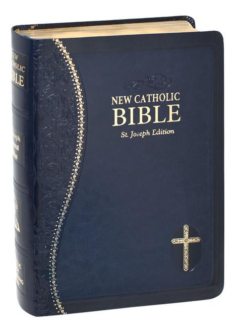 St. Joseph New Catholic Bible | Blue | Personal Size | Engrave