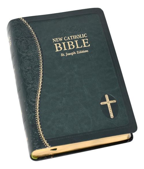 St. Joseph New Catholic Bible | Green | Personal Size | Engrave