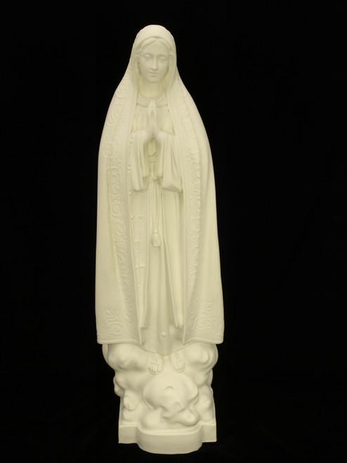 "32"" Our Lady of Fatima Garden Statue | White Finish"